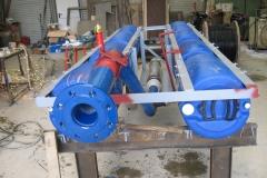 Pumpe-auf-Floß